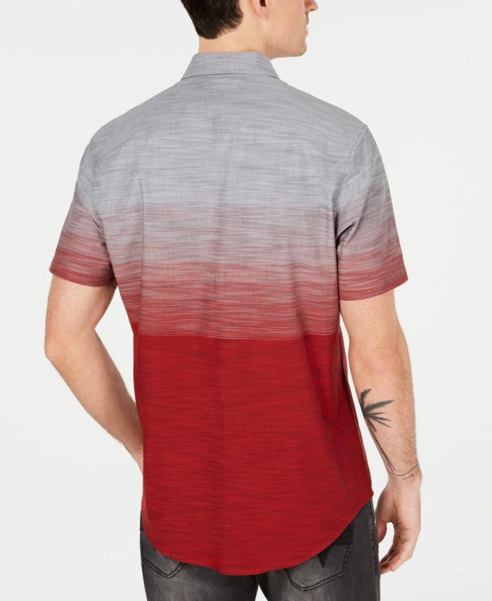 INC International Concepts INC Men's Zeddie Ombré Stripe Short-Sleeve Shirt, Created for Macy's  & Reviews - Casual Button-Down Shirts - Men - Macy's