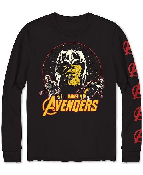 Hybrid Long-Sleeve Avengers Men's Graphic T-Shirt