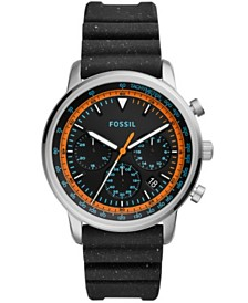 Fossil Men's Goodwin Black Silicone Strap Watch 44mm