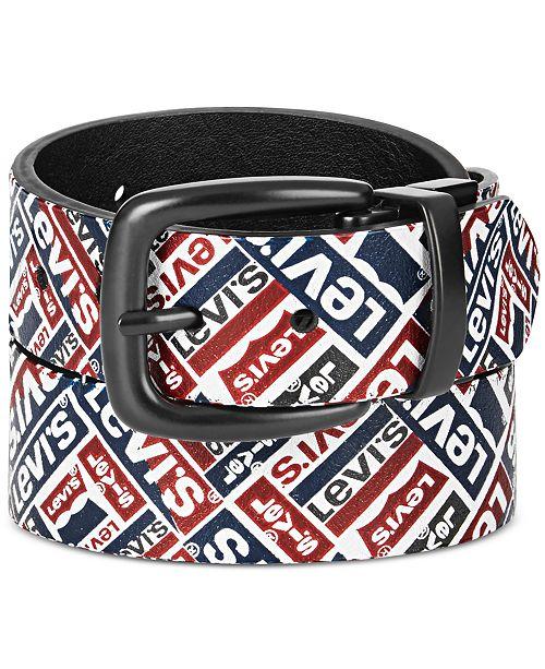 Levi's Big Boys Reversible Printed Belt