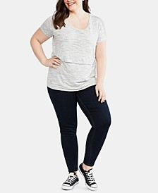 MAMA PRIMA™ Plus Size Post Pregnancy V-Pocket Jeans
