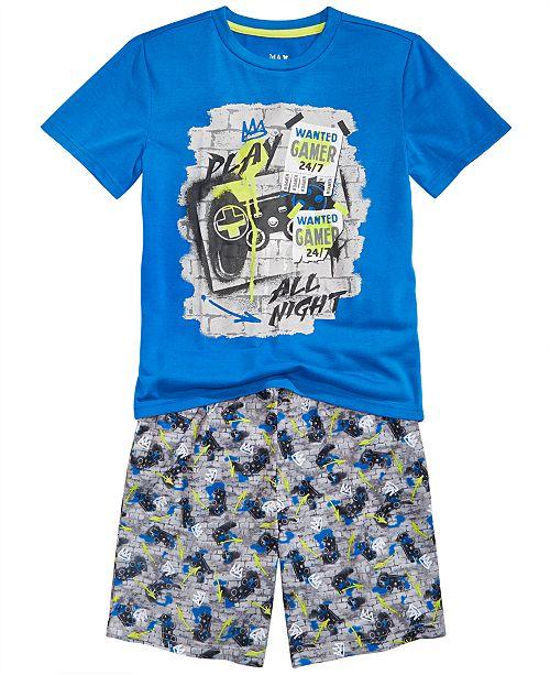 Max & Olivia Little & Big Boys 2-Pc. Gamer Pajamas Set
