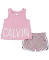 5614a0a12aa8 Calvin Klein Toddler Girls 2-Pc. Logo Tank Top & Shorts Set