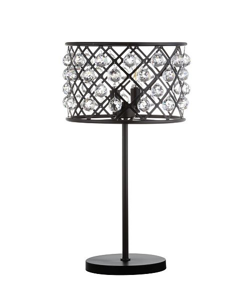 JONATHAN Y Gabrielle Metal/Crystal LED Table Lamp