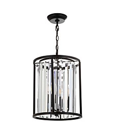 Bevin Metal/Crystal LED Pendant