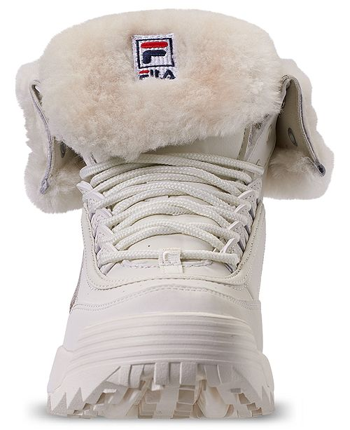 239854f92 Fila Women's Disruptor Shearling Sneaker Boots from Finish Line ...