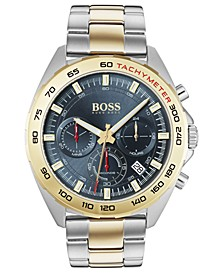 Men's Chronograph Intensity Two-Tone Stainless Steel Bracelet Watch 44mm