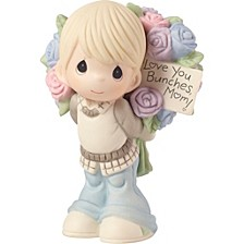 Love You Bunches Mom Boy Figurine Bisque Porcelain 183005
