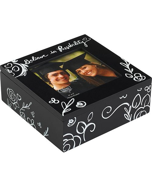 Precious Moments Believe In Possibility Graduation 4x4 Photo Frame Keepsake Box 183436