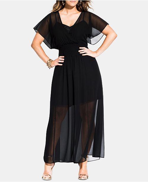 City Chic Trendy Plus Size Spirited Maxi Dress & Reviews ...