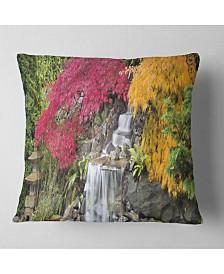 "Designart 'Japanese Maple Trees' Floral Throw Pillow - 26"" x 26"""