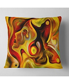 """Designart 'Butterfly S Emotions' Abstract Throw Pillow - 26"""" x 26"""""""