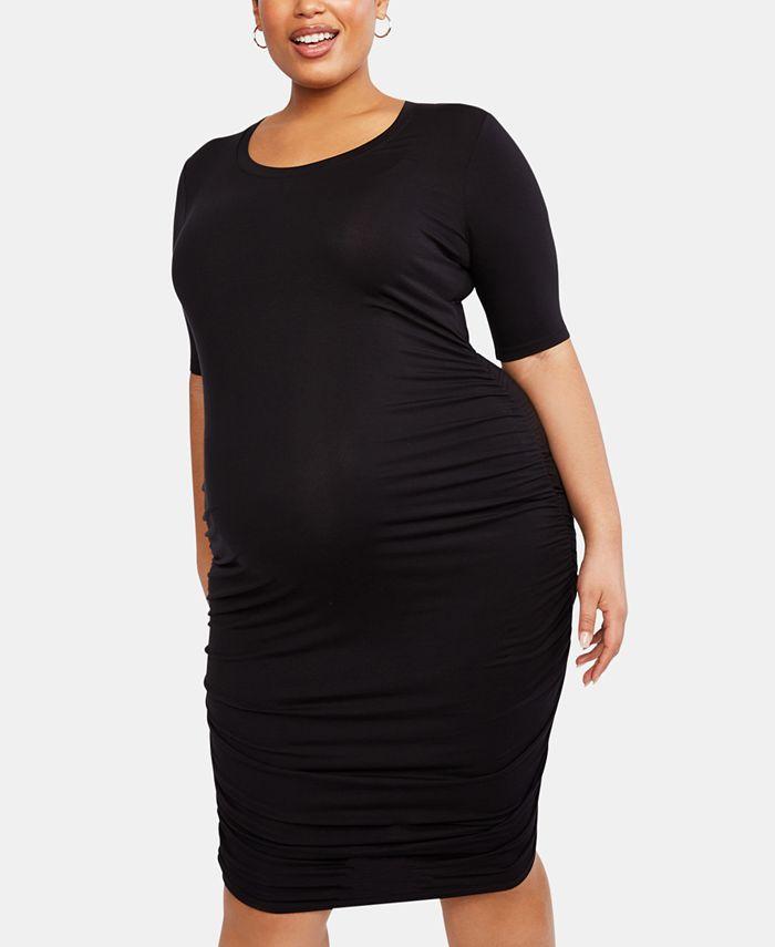 Motherhood Maternity - Maternity Plus Size Ruched Dress