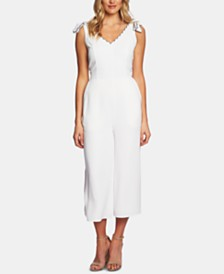 CeCe Tie-Shoulder Cropped Jumpsuit