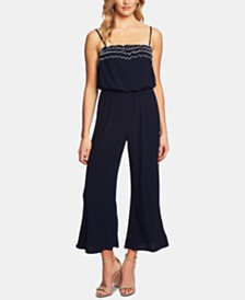 CeCe Ruffled Knit Jumpsuit