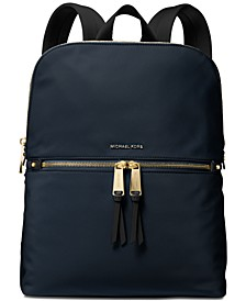 Slim Zip Nylon Backpack