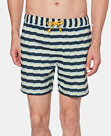 "Original Penguin Men's 6"" Zig-Zag Stripe Swim Trunks"