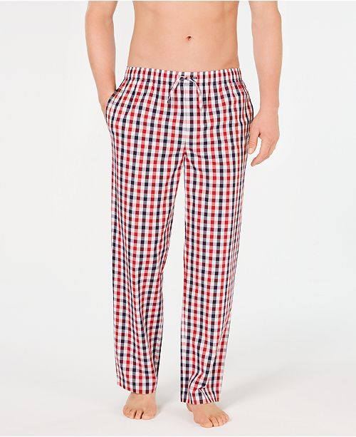 Club Room Men's Cotton Madras Pajama Pants, Created for Macy's