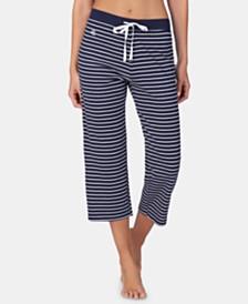 Lauren Ralph Lauren Striped Knit Capri Pajama Pants