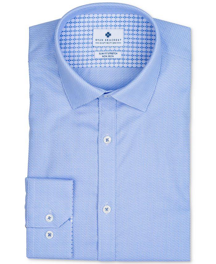 Ryan Seacrest Distinction - Men's Dobby Dress Shirt