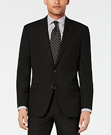Chaps Men's Classic-Fit Stretch Wrinkle-Resistant Black Solid Suit Jacket