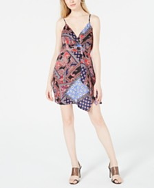 House of Polly Printed Adjustable Scarf Dress