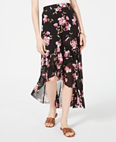 8cb0f5ab33 American Rag Juniors' Floral-Print High-Low Skirt, Created for Macy's