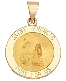 Saint Francis Medal Pendant in 14k Yellow Gold