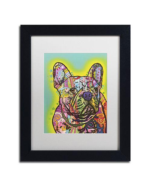"Trademark Global Dean Russo 'French Bulldog III' Matted Framed Art - 11"" x 14"" x 0.5"""