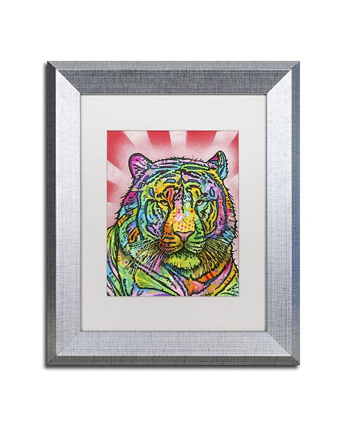 "Trademark Global Dean Russo 'Tiger II' Matted Framed Art - 14"" x 11"" x 0.5"""