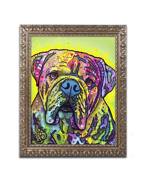 "Trademark Global Dean Russo 'Hey Bulldog' Ornate Framed Art - 20"" x 16"" x 0.5"""