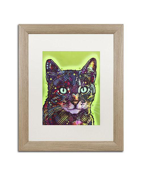 """Trademark Global Dean Russo 'Watchful Cat' Matted Framed Art - 20"""" x 16"""" x 0.5"""""""