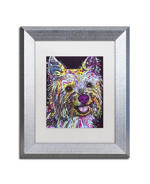 "Trademark Global Dean Russo 'Yorkie II' Matted Framed Art - 14"" x 11"" x 0.5"""