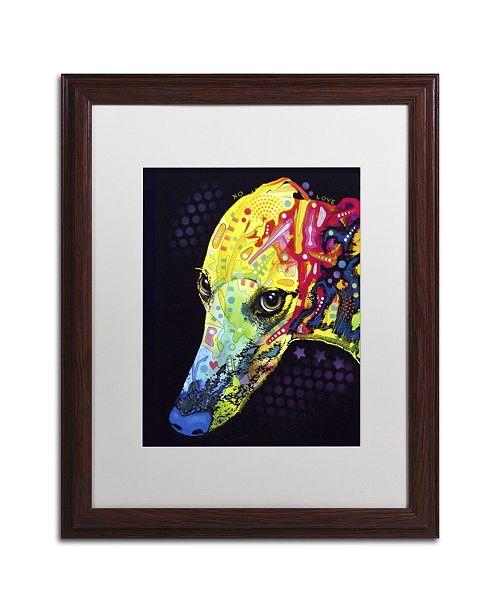 """Trademark Global Dean Russo 'Greyhound' Matted Framed Art - 20"""" x 16"""" x 0.5"""""""
