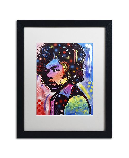 "Trademark Global Dean Russo 'Jimi Hendrix IV' Matted Framed Art - 16"" x 20"" x 0.5"""