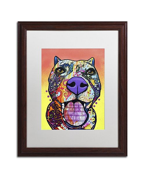 "Trademark Global Dean Russo 'Bark Don't Bite' Matted Framed Art - 20"" x 16"" x 0.5"""