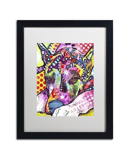 "Trademark Global Dean Russo 'Lying Dane' Matted Framed Art - 16"" x 20"" x 0.5"""