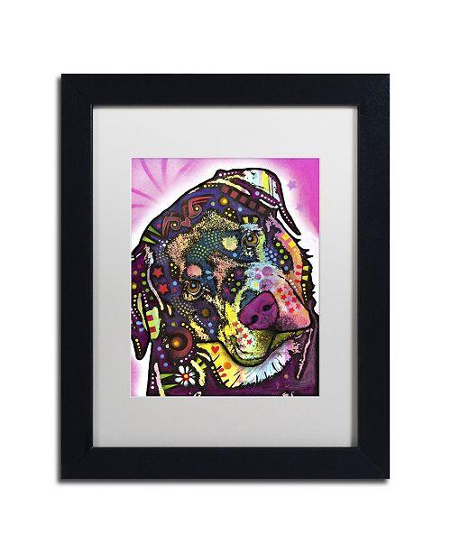 "Trademark Global Dean Russo 'Rottie' Matted Framed Art - 11"" x 14"" x 0.5"""