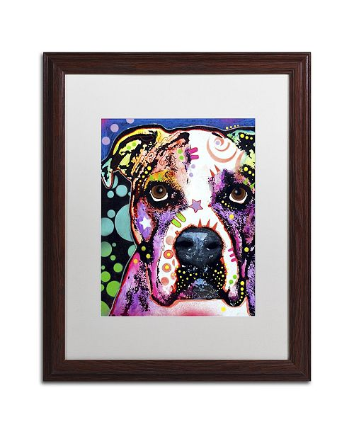 "Trademark Global Dean Russo 'American Bulldog II' Matted Framed Art - 20"" x 16"" x 0.5"""