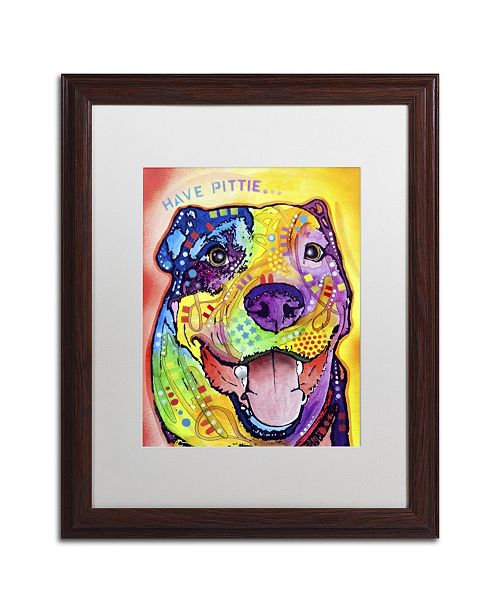 "Trademark Global Dean Russo 'Have Pittie' Matted Framed Art - 20"" x 16"" x 0.5"""