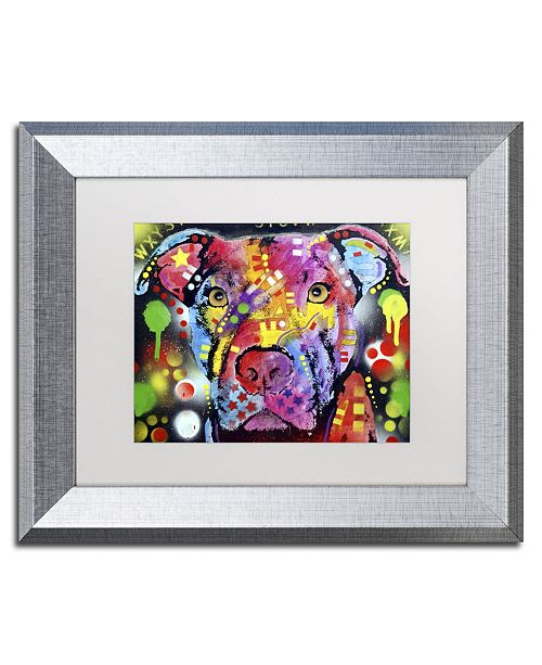 "Trademark Global Dean Russo 'The Brooklyn Pit Bull' Matted Framed Art - 14"" x 11"" x 0.5"""