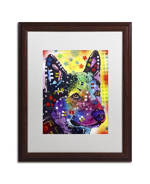"Trademark Global Dean Russo 'Aus Cattle Dog' Matted Framed Art - 20"" x 16"" x 0.5"""
