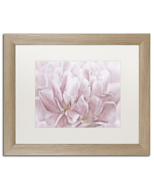 """Trademark Global Cora Niele 'Double Pink Tulip' Matted Framed Art - 20"""" x 16"""" x 0.5"""""""