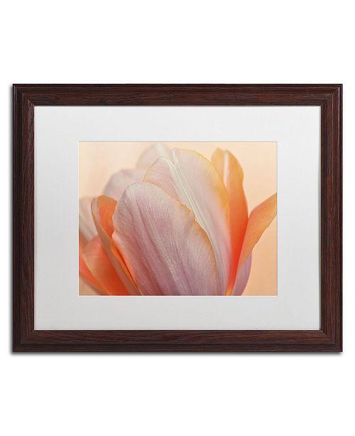 "Trademark Global Cora Niele 'Orange Glowing Tulip' Matted Framed Art - 20"" x 16"" x 0.5"""
