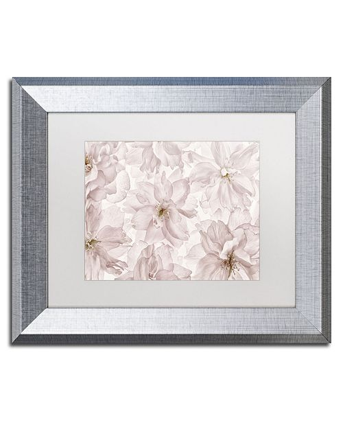 "Trademark Global Cora Niele 'Translucent Cherry Blossom' Matted Framed Art - 14"" x 11"" x 0.5"""