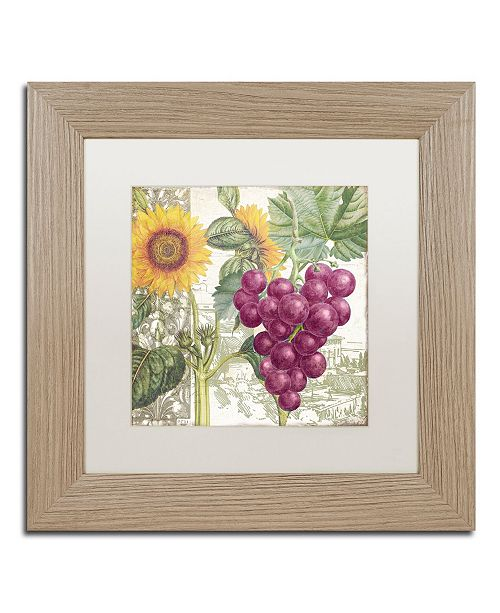 """Trademark Global Color Bakery 'Dolcetto II' Matted Framed Art - 11"""" x 0.5"""" x 11"""""""