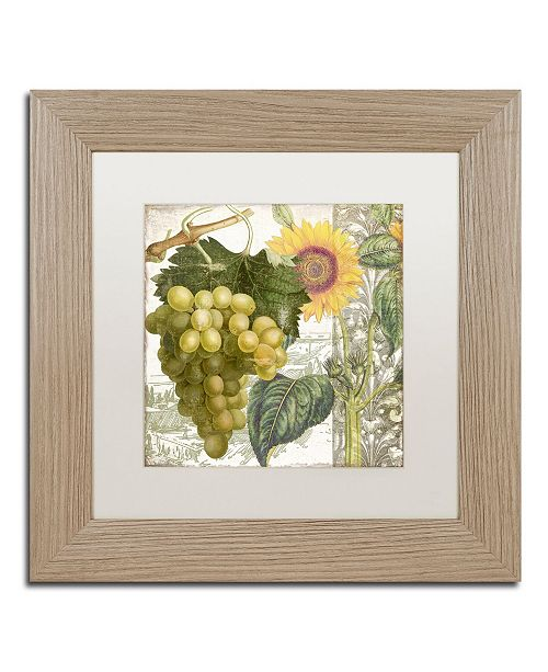 "Trademark Global Color Bakery 'Dolcetto III' Matted Framed Art - 11"" x 0.5"" x 11"""