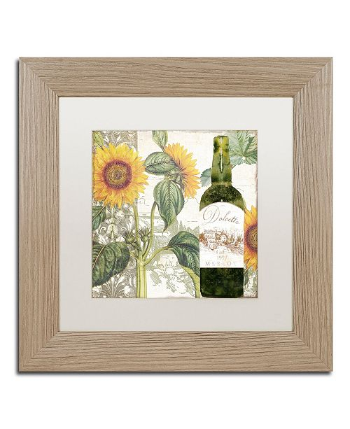 "Trademark Global Color Bakery 'Dolcetto V' Matted Framed Art - 11"" x 0.5"" x 11"""