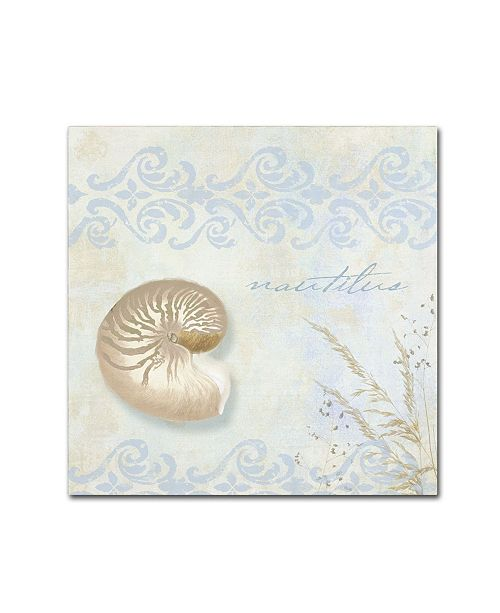 "Trademark Global Color Bakery 'She Sells Seashells I' Canvas Art - 14"" x 2"" x 14"""