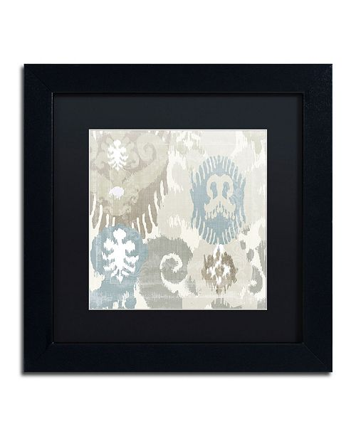 """Trademark Global Color Bakery 'Beach Curry I' Matted Framed Art - 11"""" x 11"""" x 0.5"""""""